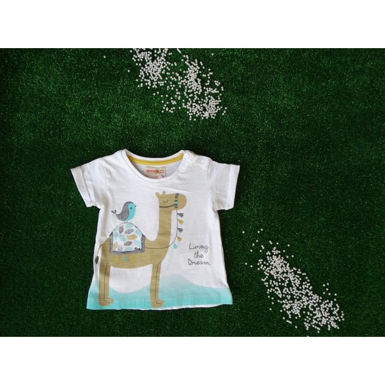 Бяла памучна тениска с камила9 м.