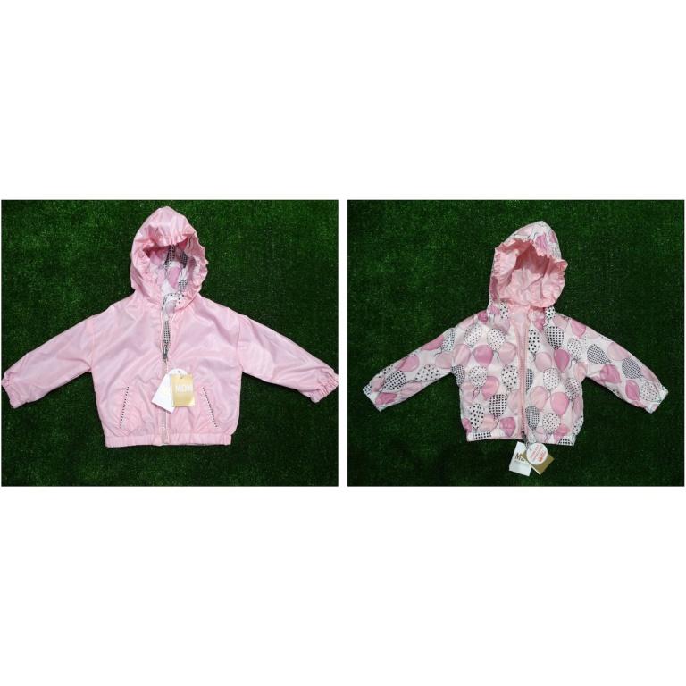 Тънко двулицево яке в нежно розово (ветровка)9 м.