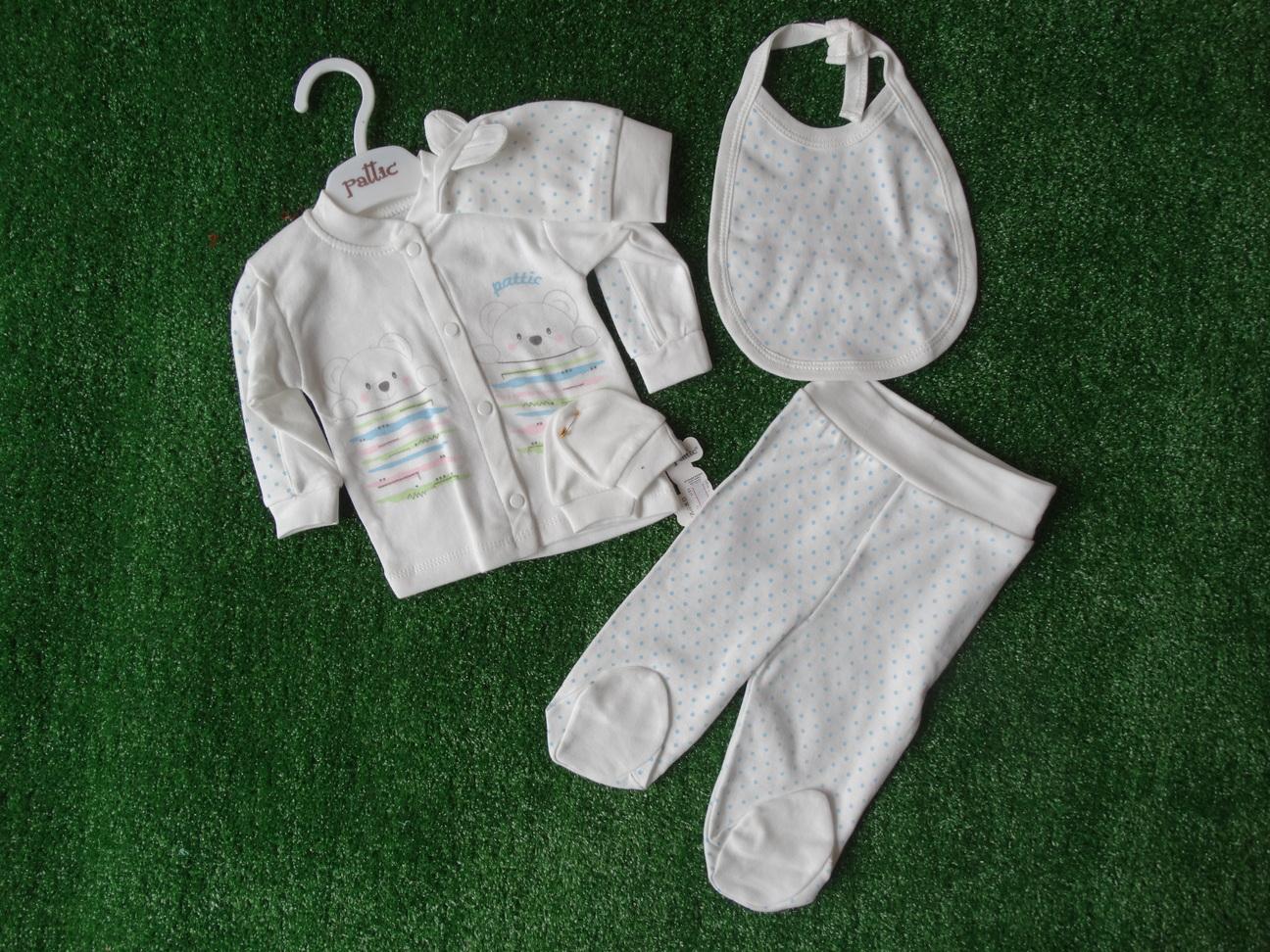 Памучен комплект за новородено от ританки